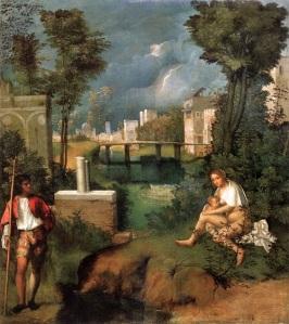 Giorgione: Das Gewitter, um 1508 Quelle: wikipedia